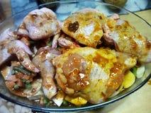 kippen Diner royalty-vrije stock foto