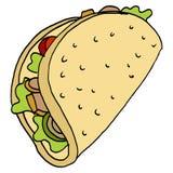 Kippen flatbread sandwich Royalty-vrije Stock Foto's