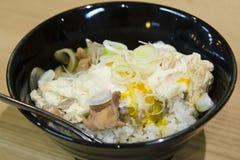 Kippen Japanse rijst met ei Stock Fotografie
