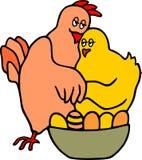 Kippen in liefde Royalty-vrije Stock Fotografie
