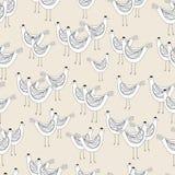 kippen naadloos patroon Stock Afbeelding