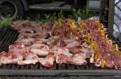 Kippenbarbecue Royalty-vrije Stock Afbeeldingen