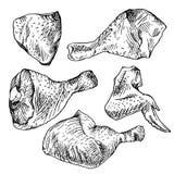 Kippenbesnoeiingen, kippendelen Stock Afbeelding