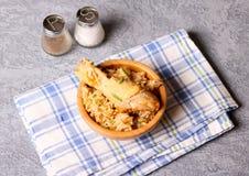 Kippenbiryani/hyderabadi Biriyani/gebraden rijst Royalty-vrije Stock Afbeelding