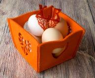Kippeneieren voor het feest van Pasen voor het kleuren Royalty-vrije Stock Foto's