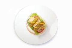 Kippenhamburger royalty-vrije stock afbeeldingen