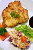 Kippenlapje vlees en groenten Royalty-vrije Stock Afbeelding