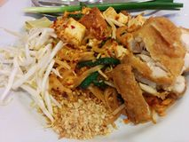 Kippenpadthai; Thais voedsel Stock Afbeeldingen