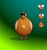 Kippenr Ronde - Bling Chicky Royalty-vrije Stock Foto