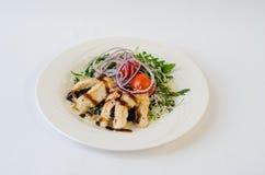 Kippensalade met arugula Stock Foto