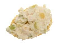 Kippensalade op een reepje van Stokbrood Stock Fotografie