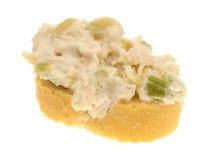 Kippensalade op een reepje van Stokbrood Royalty-vrije Stock Fotografie