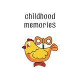 Kippenstuk speelgoed Royalty-vrije Stock Afbeeldingen