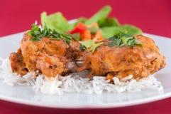 Kippenvleugels - Indische keuken Stock Fotografie