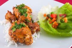 Kippenvleugels - Indische keuken Stock Foto