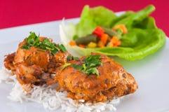 Kippenvleugels - Indische keuken Royalty-vrije Stock Afbeeldingen