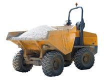 Kipper-LKW verkratzt und eingebeult stockfoto