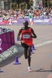 Kiprotich赢取2012奥林匹克马拉松 图库摄影