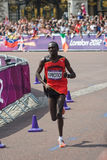Kiprotich wins the 2012 Olympic Marathon Stock Photography