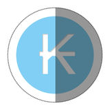 Kips currency symbol icon Stock Image