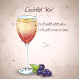 Kir alcohol cocktail Royalty Free Stock Photos