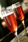 Kir royal cocmtail stock photo