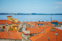 Kiran, Slovenia - 19 July 2013: city and port view in Piran, Slovenia Stock Photography