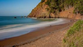 Kirby Cove Beach, Californië, de V.S., lange blootstelling royalty-vrije stock afbeelding