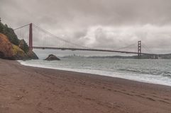 Kirby Cove: San Francisco`s Secret View of the Golden Gate Bridge royalty free stock image