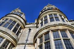 Kirby Hall, Northamptonshire, het UK stock foto's