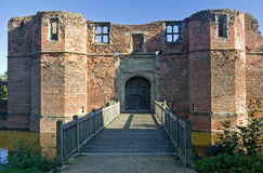 Kirby Muxloe Castle. The Castle gatehouse built in 1480 by Lord Hastings in Liecestershire England Stock Images