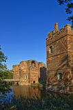 Kirby Muxloe Castle. The moated castle in the Leicestershire village of Kirby Muxloe England Stock Photography