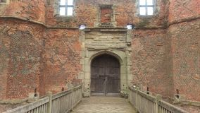 Kirby Muxloe castle. Sandstone tower of Kirby Muxloe castle, Leicestershire, UK Royalty Free Stock Photo