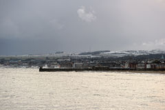 Kircaldy, Fife, Scozia, il giorno di inverno tempestoso Immagine Stock Libera da Diritti