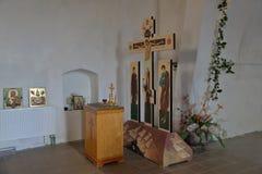 Kircha Heiligenwalde St Nicholas kościół, teraz Kaliningrad region, Rosja zdjęcia stock
