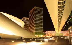Kirchberg by night Stock Photos