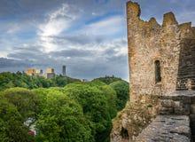 Kirchberg van Bockbier, Luxemburg wordt gezien dat Royalty-vrije Stock Foto's