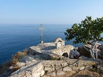 Kirche über dem Schwarzen Meer Stockfotografie