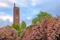 Kirche (教会)上午Hohenzollernplatz,柏林塔  库存照片