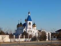 Kirche in Aktau Lizenzfreie Stockfotos