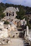 Kirche in Alahan Stockbild
