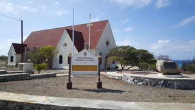 Kirche auf Aruba Stockbild
