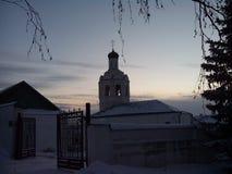 Kirche auf dem Sonnenaufgang Lizenzfreies Stockbild