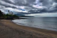 Kirche auf dem Strand Stockfotografie
