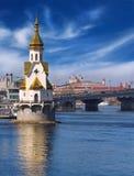 Kirche auf dem Wasser Lizenzfreies Stockfoto