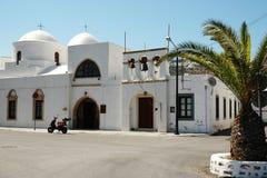 Kirche auf der Insel von Patmos Lizenzfreie Stockfotos