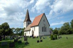 Kirche auf Gotland Lizenzfreies Stockfoto