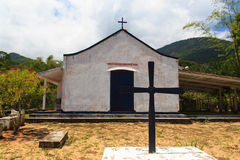 Kirche auf Insel Ilha groß, Brasilien stockfotografie