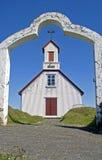 Kirche auf Island Lizenzfreies Stockbild