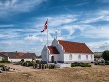 Kirche auf Mando im Wadden-Meer, Dänemark Stockfotos